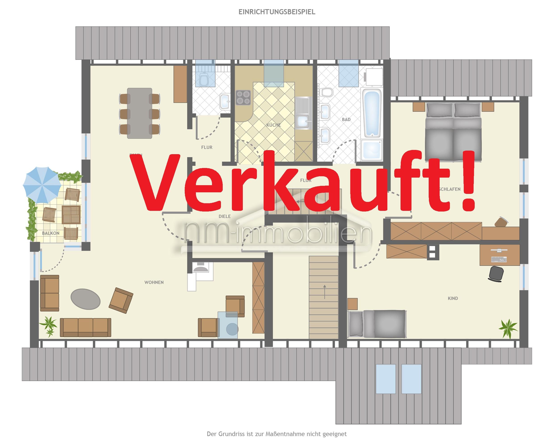 Gepflegte Eigentumswohnung mit ausgebautem Dachstudio